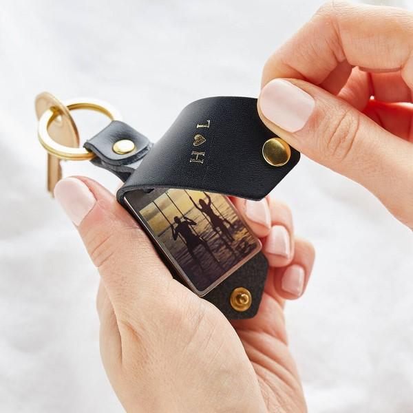 Das perfekte Valentinsgeschenk für ihn wählen oder basteln – Tipps und Ideen schlüsselanhänger fotos leder (Custom)
