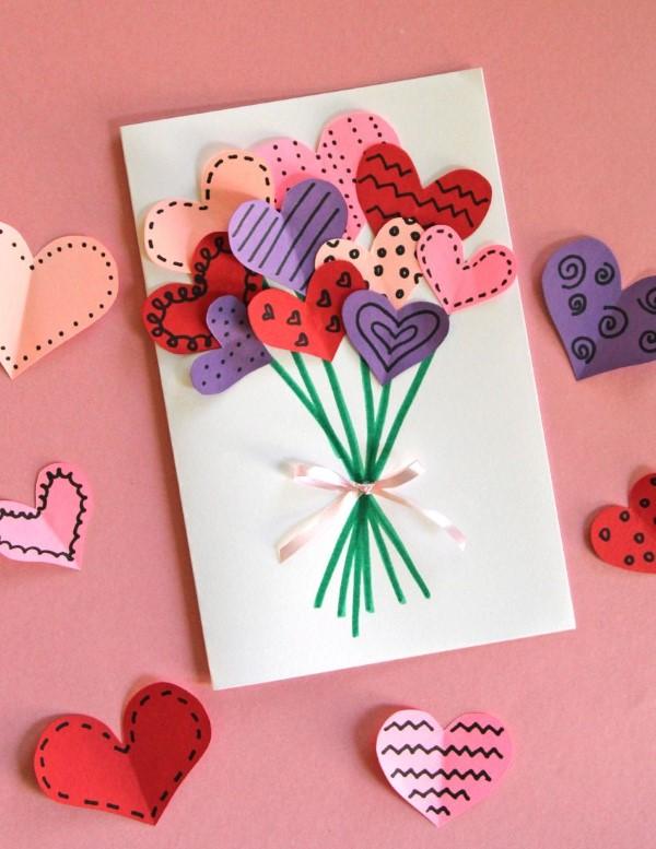 Das perfekte Valentinsgeschenk für ihn wählen oder basteln – Tipps und Ideen valentinskarte romantisch diy (Custom)