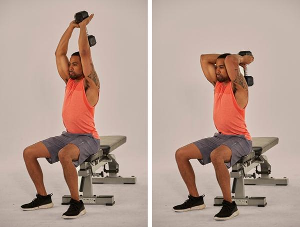 Einfache Trizeps Übungen, die Sie auch zu Hause machen können über kopf streck übungen