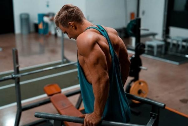 Einfache Trizeps Übungen, die Sie auch zu Hause machen können dips übung training