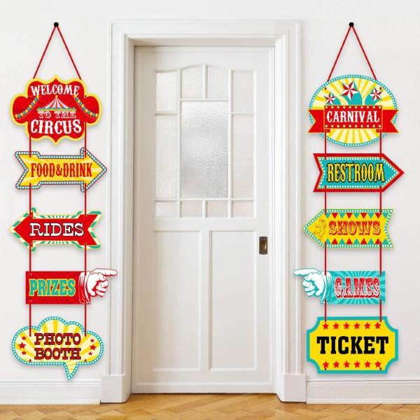 Faschingsdeko basteln – Anleitungen und Spielideen für Groß und Klein schilder karneval fasching