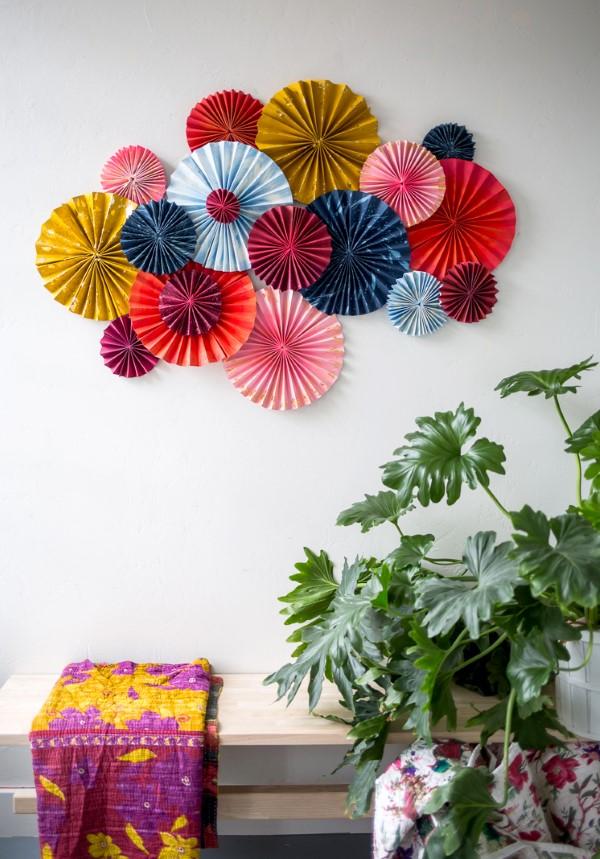 Faschingsdeko basteln – Anleitungen und Spielideen für Groß und Klein wanddeko papier diy einfach