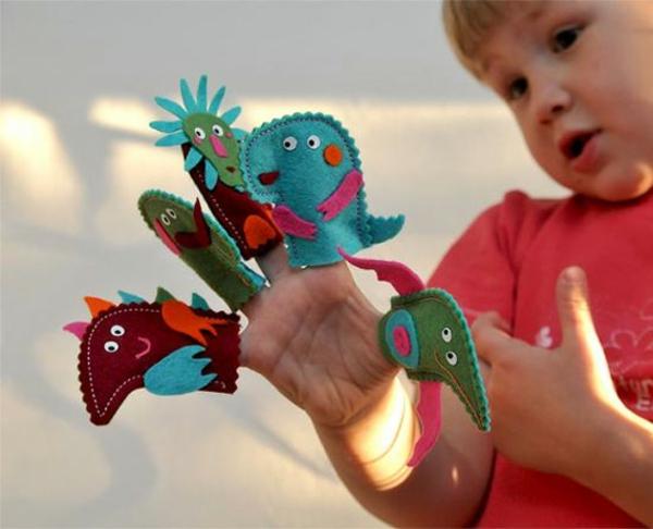 Fingerpuppen basteln Basteln mit Kindern Ideen