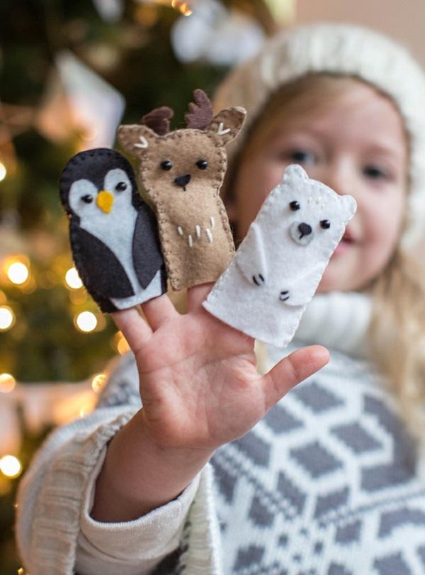 Fingerpuppen basteln Filztier Basteln mit Kindern Kinderspiele
