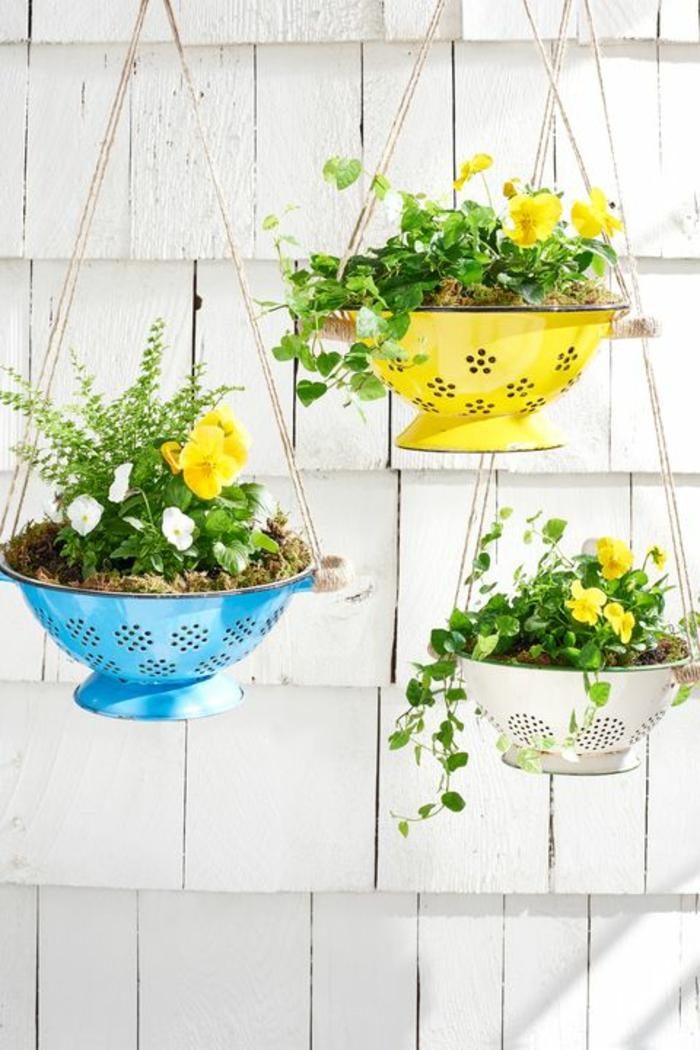Frühlingsdeko basteln mit Naturmaterialien nudeltopf