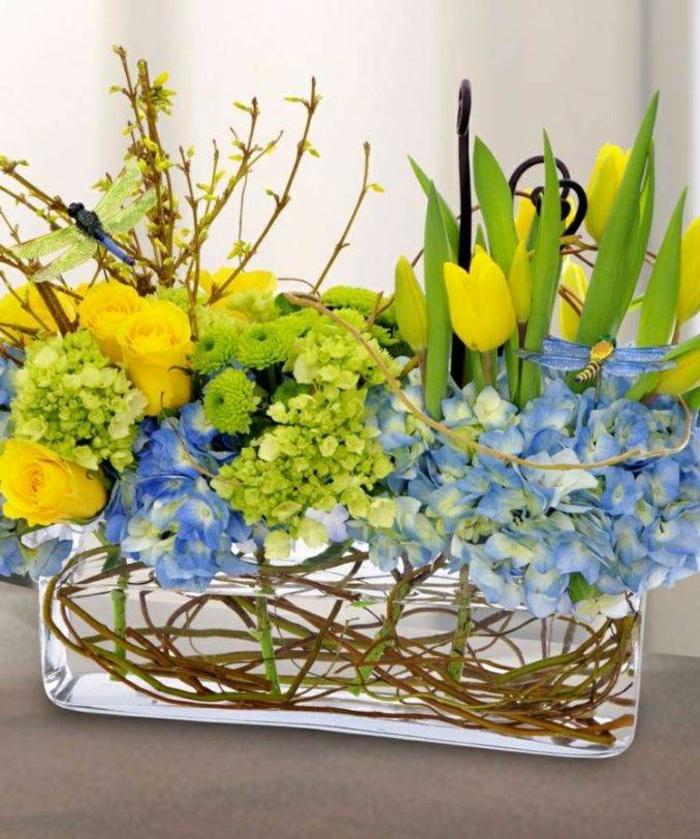 Frühlingsdeko basteln mit Naturmaterialien pracht