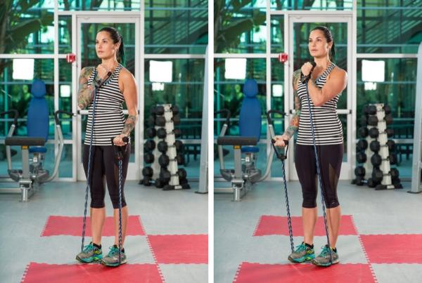 Ganzkörper Theraband Übungen für Zuhause – Vorteile und Auswahlhilfe ellbogenbeuge mit band damen