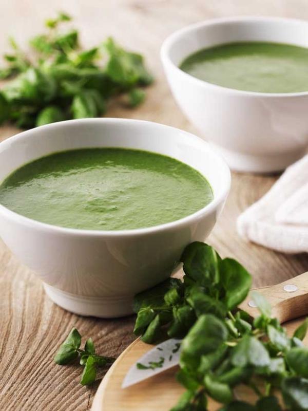 Gesündestes Gemüse Top 5 der nahrhaftesten Sorten brunnenkresse suppe creme