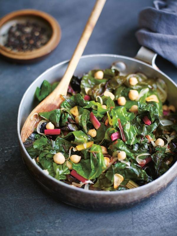 Gesündestes Gemüse Top 5 der nahrhaftesten Sorten mangold pfannen gericht