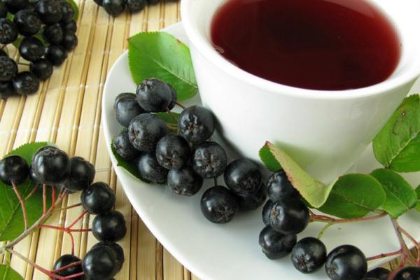 Getränke gegen Corona Aronia Tee aus Aroniabeeren schmeckt gut ist gesund