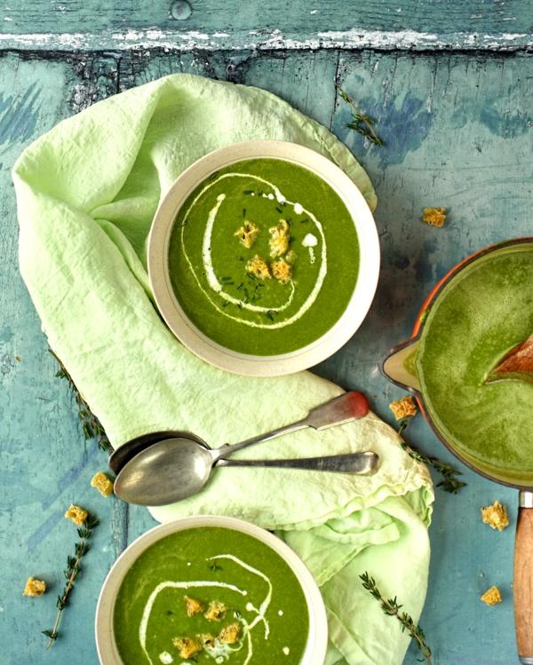 Mangoldsuppe zubereiten Mangold Nahrstoffangeben