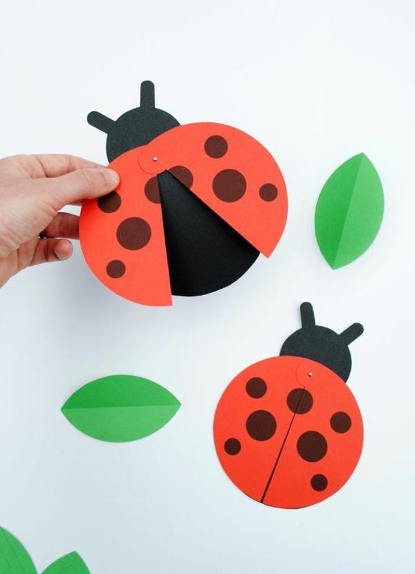 Marienkäfer basteln 3 einfache Bastelideen aus Papier für Kinder und Erwachsene
