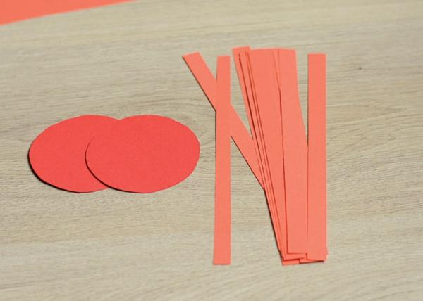 Marienkäfer basteln aus Papier 3D Marienkäfer Materialien