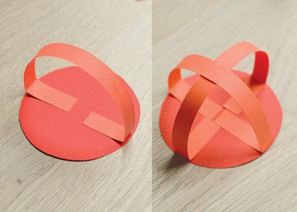 Marienkäfer basteln aus Papier 3D Marienkäfer selber machen