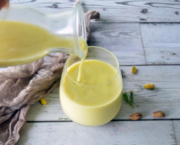 Pistazienmilch Rezept vegane Milch selber machen