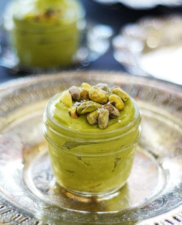 Pistazienmilch selber machen Rezept Dessert mit Pistazien