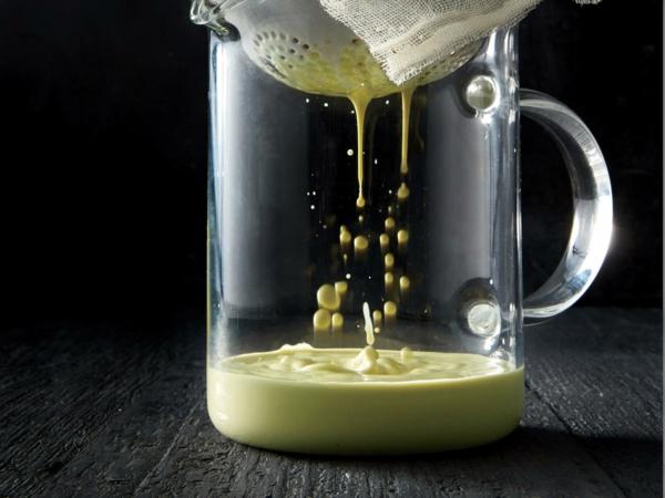 Pistazienmilch selber machen Rezept Zubereitung