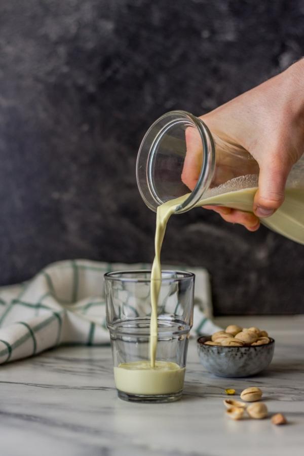 Pistazienmilch selber machen Rezept vegan pflanzlich milchfrei