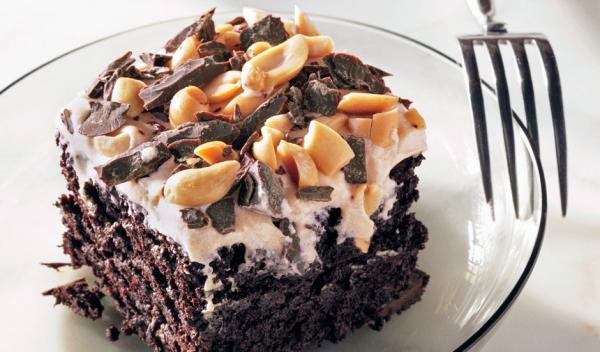 Schokoladenkuchen mit Erdnussbutter das Fest der Liebe