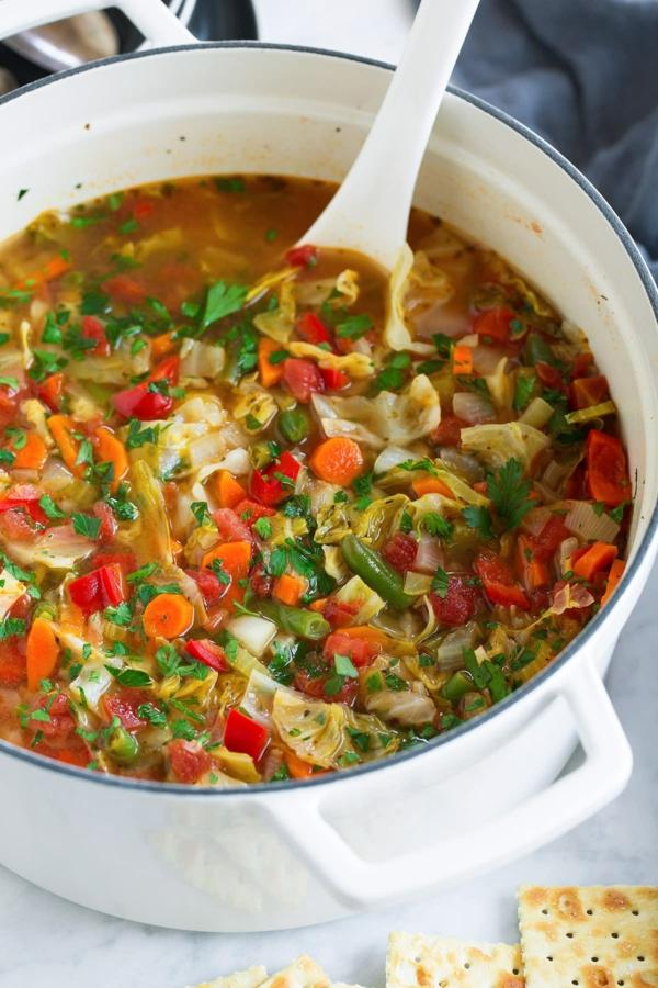 Suppendiät Vorteile Nachteile Diätsuppe kochen