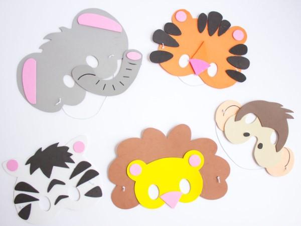 Tiermasken basteln mit Kindern zum Fasching – kreative Ideen und einfache Anleitung craft foam tiere