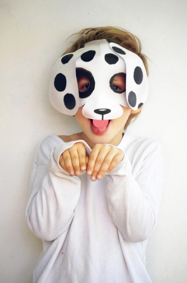 Tiermasken basteln mit Kindern zum Fasching – kreative Ideen und einfache Anleitung dalmatiner hund punkte
