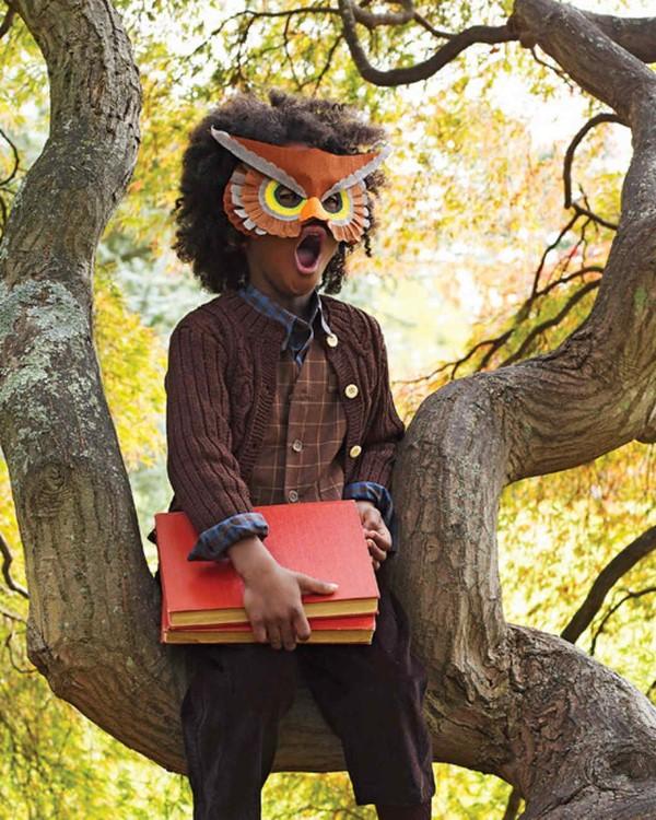 Tiermasken basteln mit Kindern zum Fasching – kreative Ideen und einfache Anleitung eule kostüm kreativ einfach