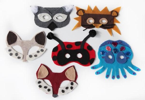 Tiermasken basteln mit Kindern zum Fasching – kreative Ideen und einfache Anleitung fasching halloween ideen tiere