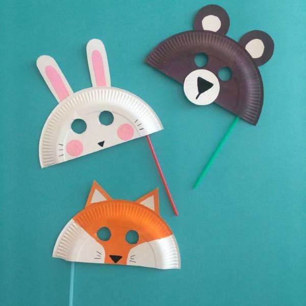 Tiermasken basteln mit Kindern zum Fasching – kreative Ideen und einfache Anleitung fuchs bär hase