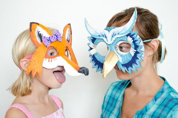 Tiermasken basteln mit Kindern zum Fasching – kreative Ideen und einfache Anleitung fuchs und eule masken