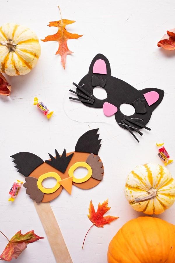 Tiermasken basteln mit Kindern zum Fasching – kreative Ideen und einfache Anleitung halloween masken tiere