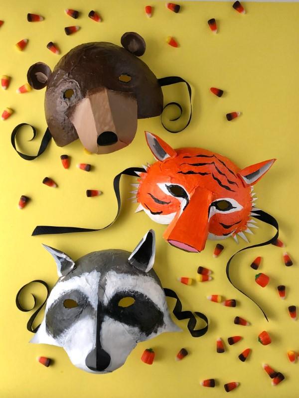 Tiermasken basteln mit Kindern zum Fasching – kreative Ideen und einfache Anleitung herbst tiere bär fuchs