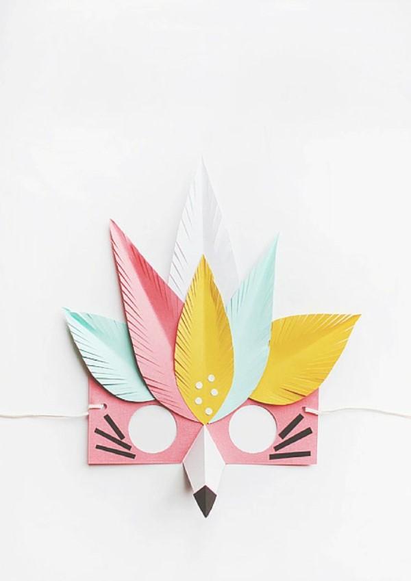 Tiermasken basteln mit Kindern zum Fasching – kreative Ideen und einfache Anleitung moderne abstrakte masken