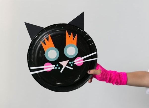 Tiermasken basteln mit Kindern zum Fasching – kreative Ideen und einfache Anleitung schwarze katze halloween