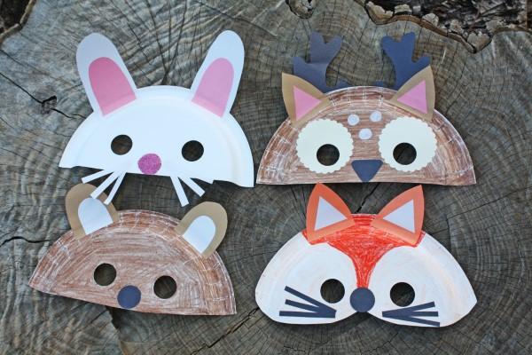 Tiermasken basteln mit Kindern zum Fasching – kreative Ideen und einfache Anleitung tier masken pappteller