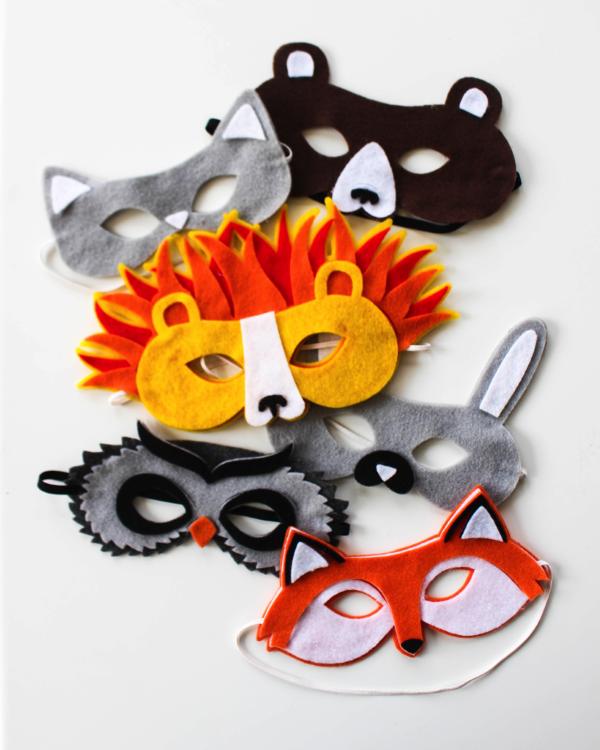 Tiermasken basteln mit Kindern zum Fasching – kreative Ideen und einfache Anleitung tier masken verschieden kreativ