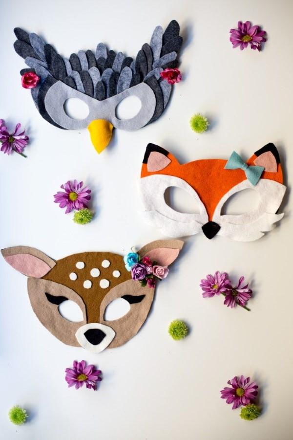 Tiermasken basteln mit Kindern zum Fasching – kreative Ideen und einfache Anleitung uhu fuchs reh masken