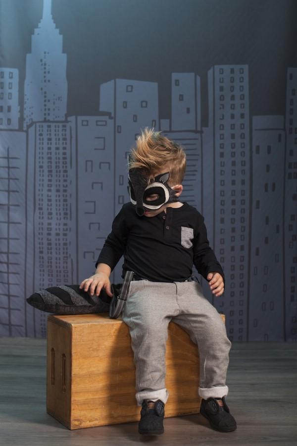 Tiermasken basteln mit Kindern zum Fasching – kreative Ideen und einfache Anleitung waschbär maske kostüm