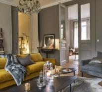 Zwei Trendfarben 2021- ultimatives Grau und leuchtendes Gelb frischen das Interieur auf