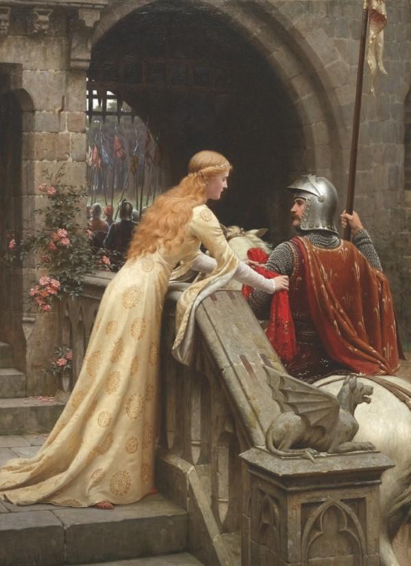 Valentinstag Ursprung und Bräuche - das Fest der Liebenden traditionell feiern god speel gemälde ritter