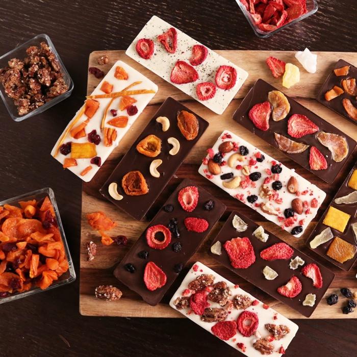 Valentinstag basteln diy ideen deko karte gestalten schokolade selber machen mit fruechten