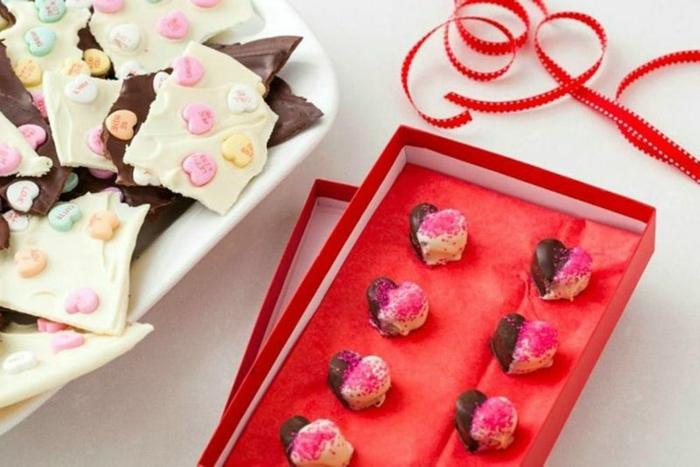 Valentinstag basteln diy ideen deko karte gestalten schokolade selber machen