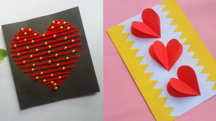 Valentinstag basteln diy ideen deko karte selber machen