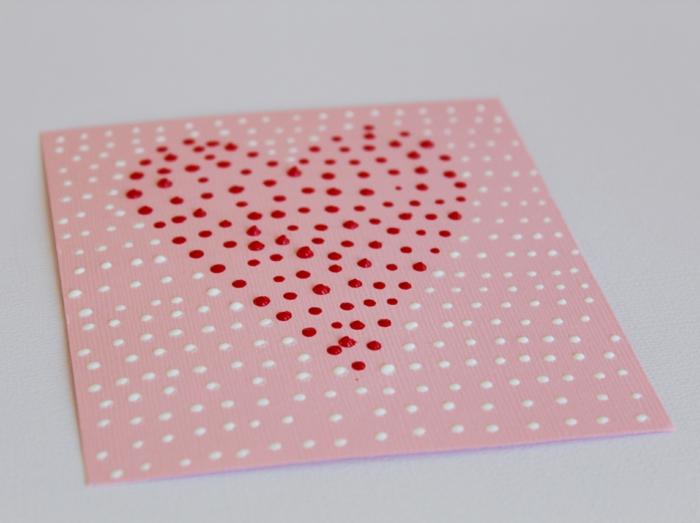 Valentinstag basteln diy ideen deko punkte