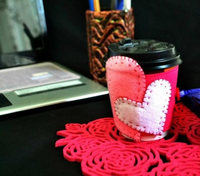 Valentinstag basteln diy ideen deko tasse