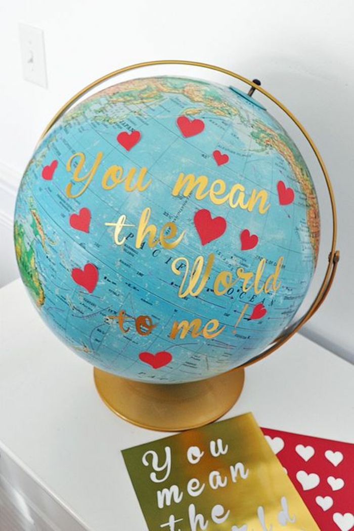 Valentinstag basteln diy ideen deko wandgestaltung botschaft