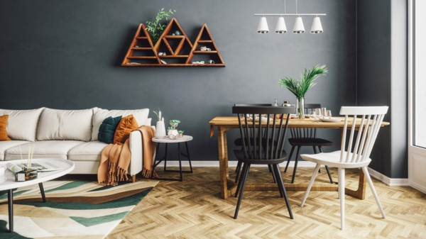 Wandfarben 2021 Trendfarben aktuelle Farbtrends Wohnzimmer
