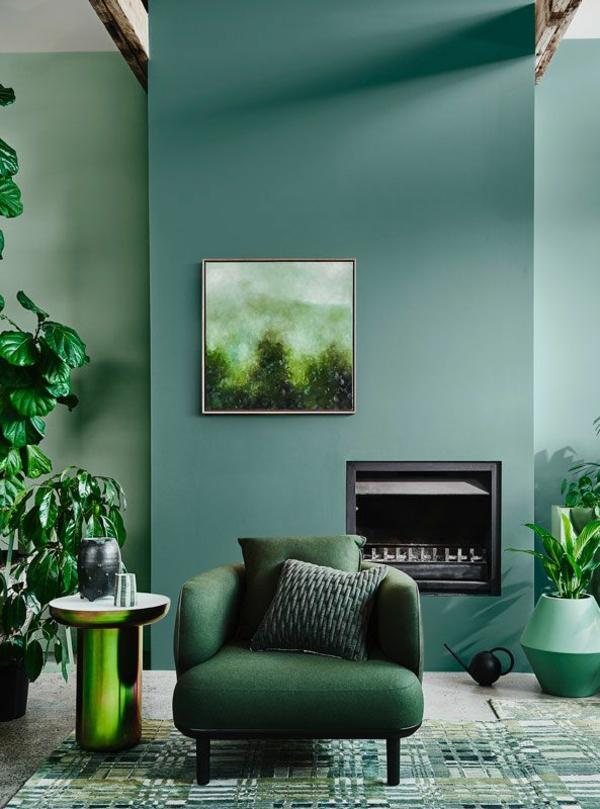 Wandfarben 2021 Trendfarben aktuelle Nuancen Grün