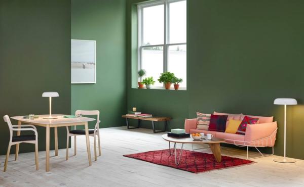 Wandfarben 2021 Trendfarben aktuelle Nuancen Moosgrün