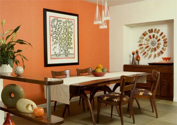 Wandfarben 2021 Trendfarben aktuelle Nuancen Orange
